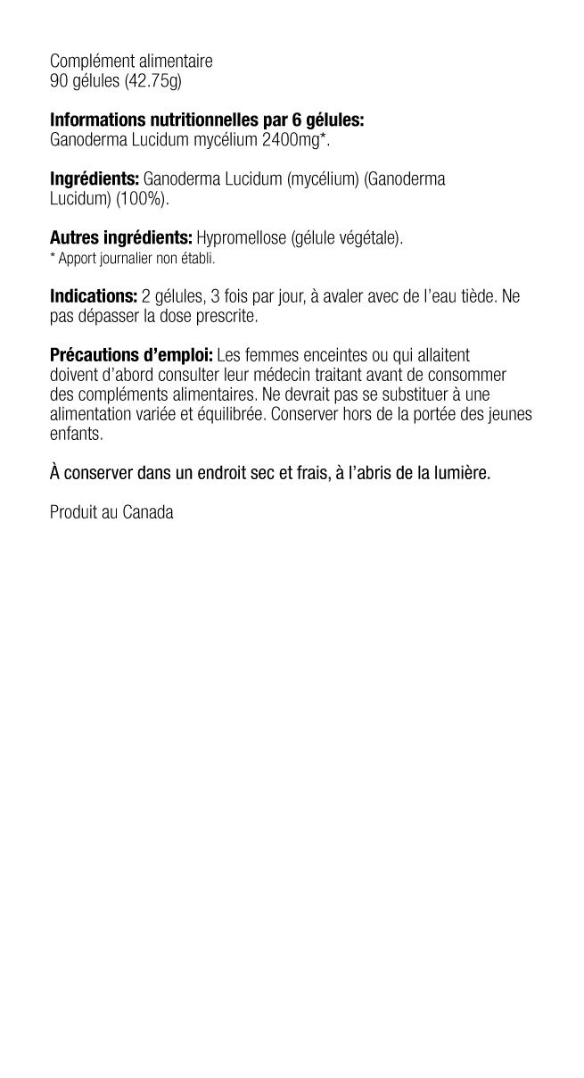 Ganoderma Lucidum Micélio