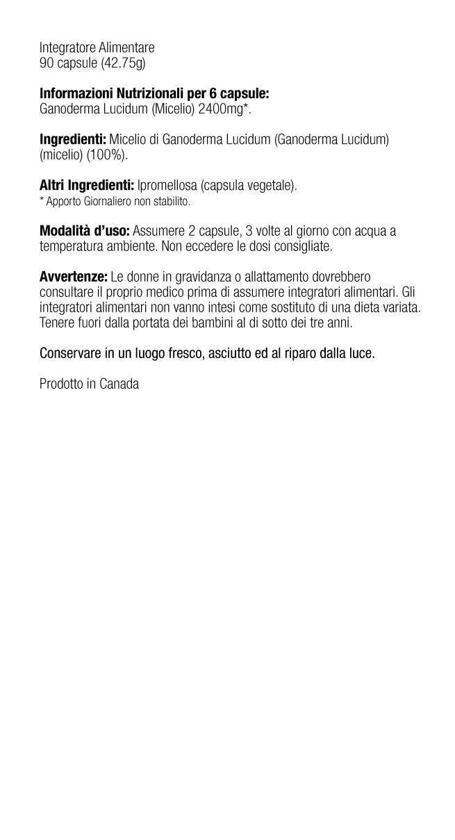 Ganoderma Lucidum Mycelium